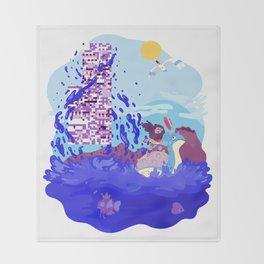 Tiny Worlds - Cinnabar Island Throw Blanket