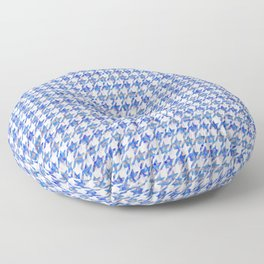 Abstract Blue Houndstooth Floor Pillow