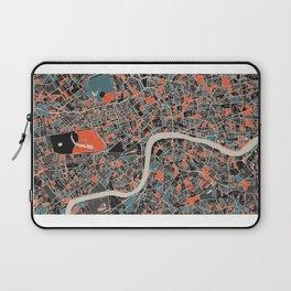 London Multicoloured Print Laptop Sleeve