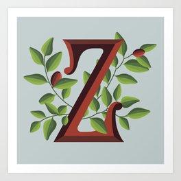Letter 'Z' is for Ziziphus Art Print