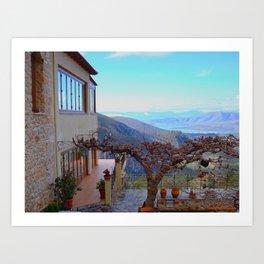 Delphi Valley, Greece  Art Print