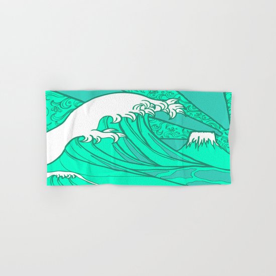 FRESH WAVE AND MOUNTAIN Hand & Bath Towel