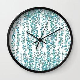 string of pearl watercolor Wall Clock