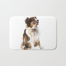watercolor dog vol 6 bernese mountain dog Bath Mat