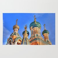 russia Area & Throw Rugs featuring Basilica in Russia  by Limitless Design