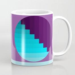 Ups and Down   Deep Within   Purple   Blue   Turquoise Coffee Mug