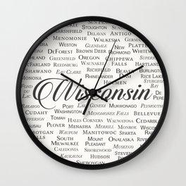 Wisconsin Wall Clock