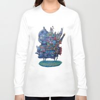 fandom Long Sleeve T-shirts featuring Fandom Moving Castle by nokeek