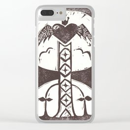 Love (White) Clear iPhone Case