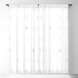 Middle fingers Blackout Curtain