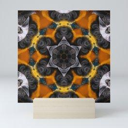 Our Feathered Friends Series | Parrot 3 geometric art Mini Art Print