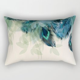 Beautiful Peacock Feathers Rectangular Pillow