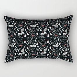 Bewitching Witchy Pattern in Red Rectangular Pillow