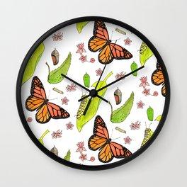 Monarch Migration Wall Clock