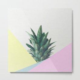 Modern Pineapple Top Metal Print