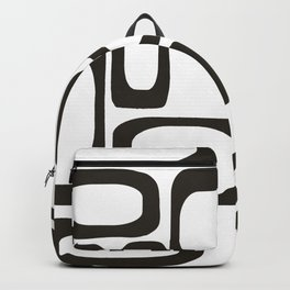 Mid Century Modern Shapes Black And White #society6 #buyart Backpack