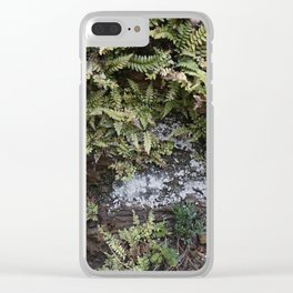 Fern Covered Coastal Cliff Face Clear iPhone Case
