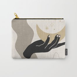 Hand and moon abstract Carry-All Pouch