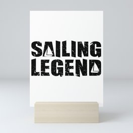 sailing legend sailing legend sailing boat water lake Mini Art Print