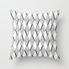 Diamond Pattern (B&W) Throw Pillow