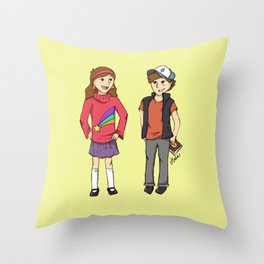 The Mystery Twins Throw Pillow
