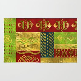Ethnic African Golden Pattern on color Rug
