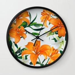 Glorious Lilies Wall Clock