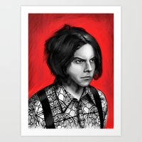 jack white Art Prints featuring Jack White by Dr.Söd