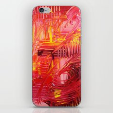THE TANGO - BOLD Bright and Beautiful, Modern Abstract Painting Dance Home Decor Red Yellow iPhone & iPod Skin