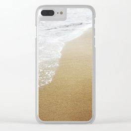 walk on the beach Clear iPhone Case