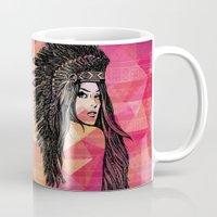 coachella Mugs featuring RIVIERA by XD Art