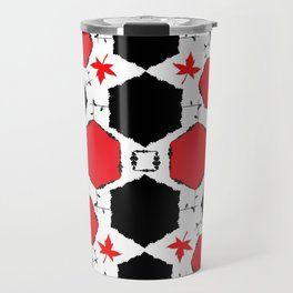 Red Black Travel Mug