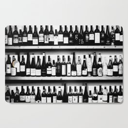 Wine Bottles in Black And White #decor #society6 #buyart Cutting Board