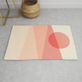 Abstraction_SUNSET_LINE_ART_Minimalism_001 Rug