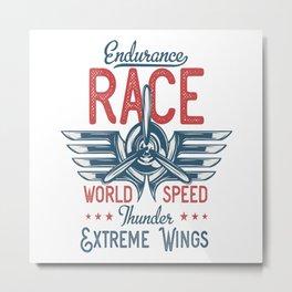 Endurance Race Metal Print