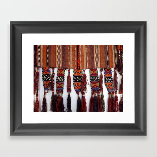 Native American Rug Framed Art Print