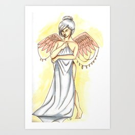 Young angel Art Print