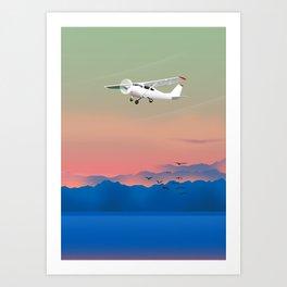 Prop plane Art Print