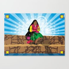 Paisana in Titicaca Lake, Puno, Perú Canvas Print
