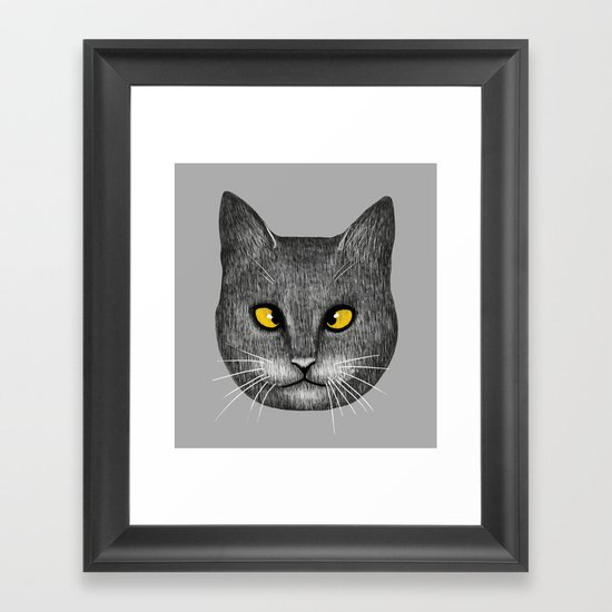 Cross Eyed Framed Art Print