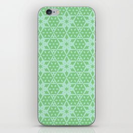Stars and Hexagons Pattern - Distant Hills iPhone Skin