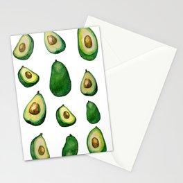 avacado white Stationery Cards