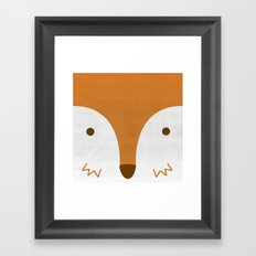 Mr Fleecy Fox Framed Art Print
