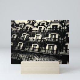 Houses on Hastings Seafront Mini Art Print