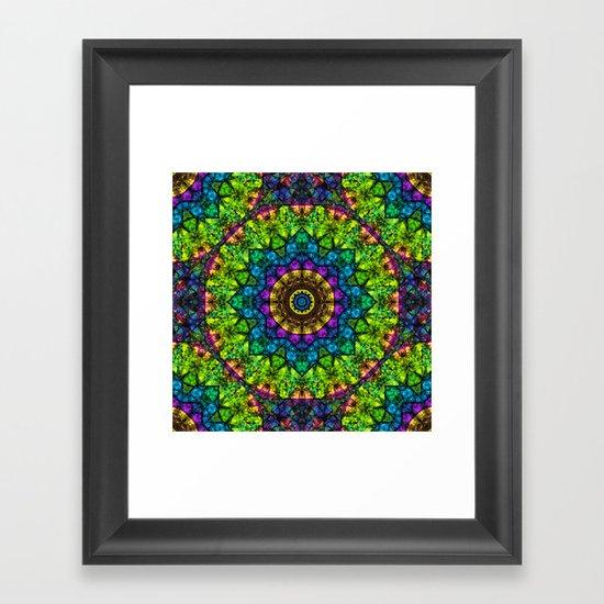 kaleidoscope Crystal Abstract G50 Framed Art Print