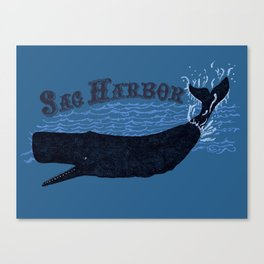 Sag Harbor Whale Canvas Print