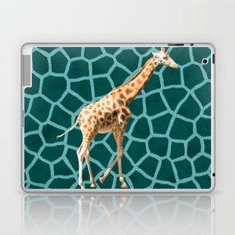 African Giraffe on Blue Camouflage Laptop & iPad Skin