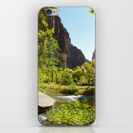 The Virgin River in Zion iPhone Skin