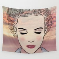 dreamer Wall Tapestries featuring DREAMER by Laure.B
