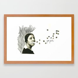 palabras inventadas Framed Art Print